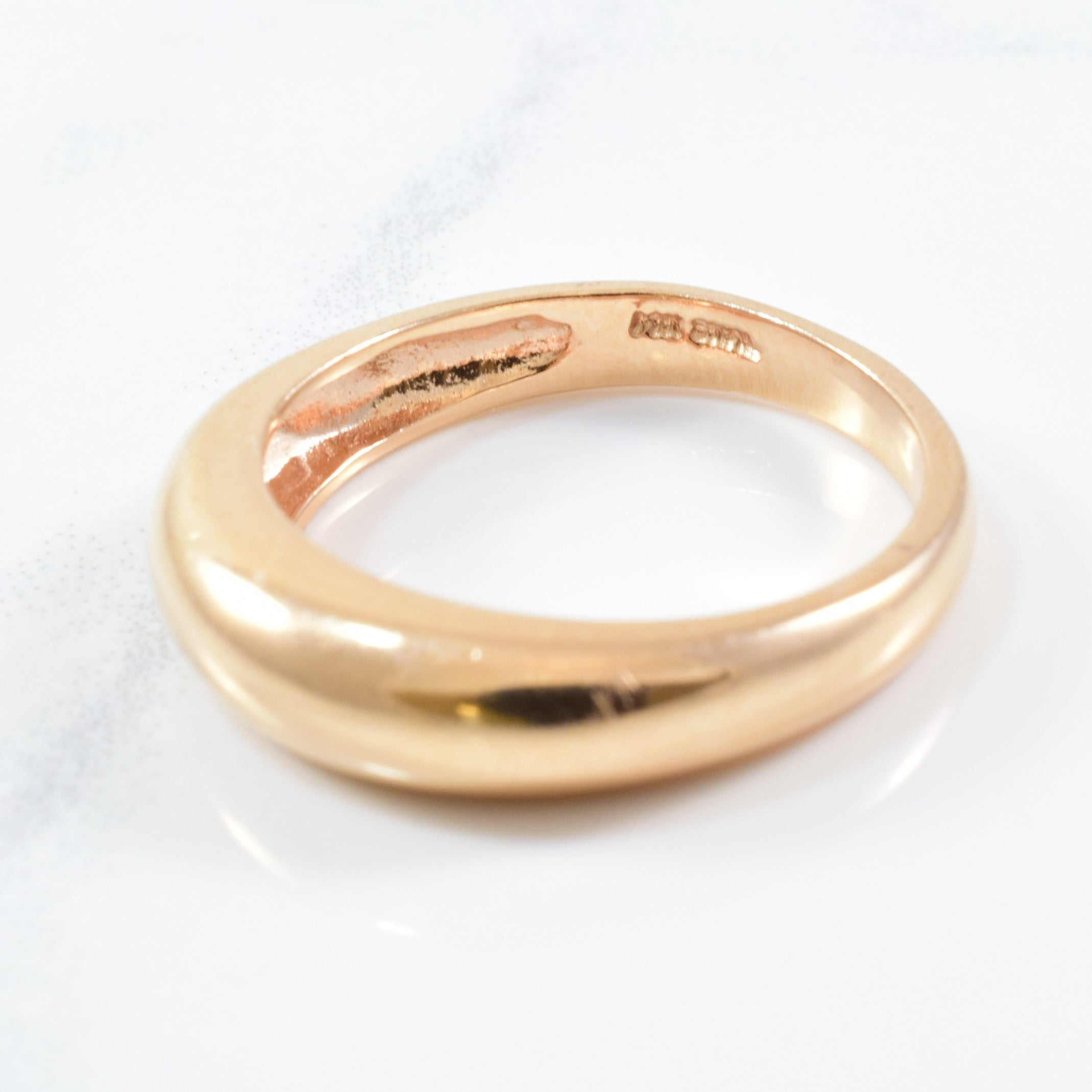 Rose Gold Domed Fashion Band | SZ 6 |