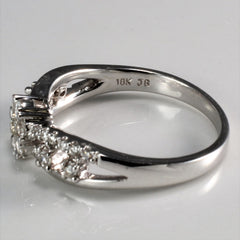 Flower Design Diamond Engagement Ring | 0.40 ctw, SZ 6 |