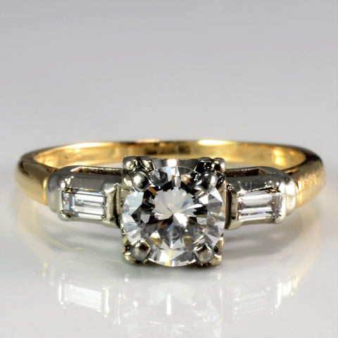 Vintage Three Stone Diamond Engagement Ring | 0.63 ctw, SZ 5.25 |
