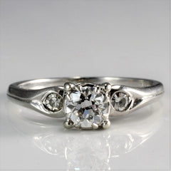 Three Stone Diamond Engagement Ring | 0.43 ctw, SZ 5 |