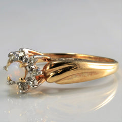 Opal & Diamond Cocktail Ring | 0.03 ctw, SZ 6.75 |