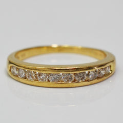 Channel Set Semi Eternity Band | 0.45 ctw, SZ 6.75 |