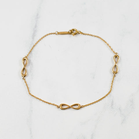 'Tiffany & Co.' Infinity Endless Bracelet | SZ 7"