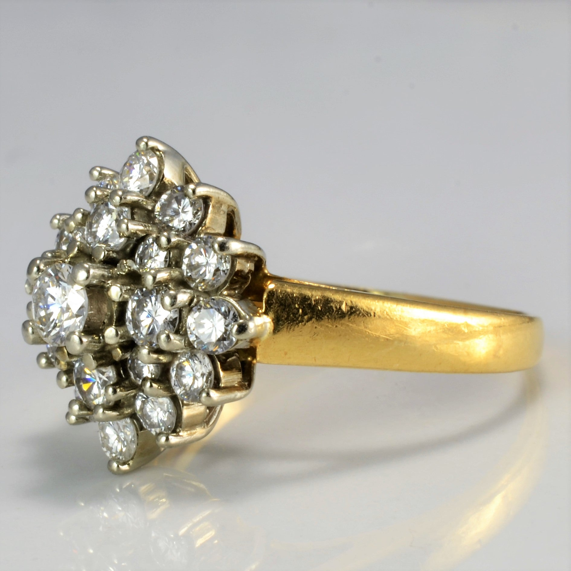 Cluster Diamond Ladies Ring | 0.72 ctw, SZ 5.75 |
