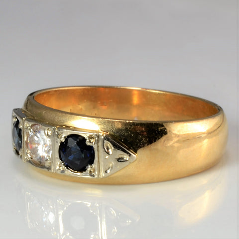 Victorian Three Stone Vintage Band | 0.18 ctw, SZ 6.25 |