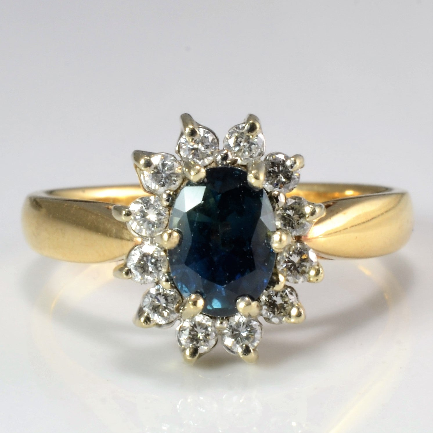 sapphire gold grams yellow ring l polished and high diamond