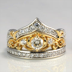 DISNEY Diamond Princess Crown Engagement Ring | 0.68 ctw, SZ 6.75 |