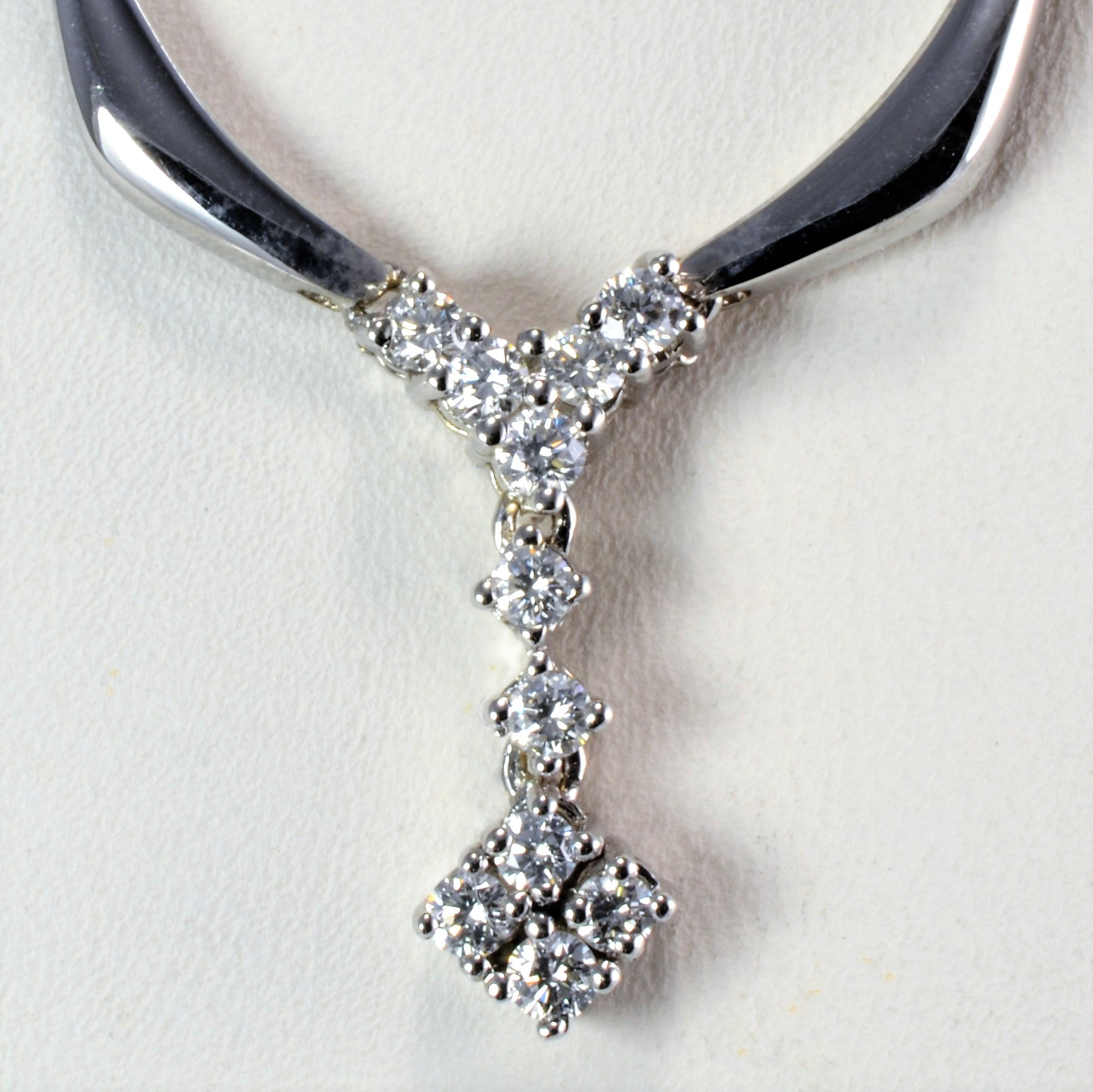 White Gold Diamond Necklace | 0.68 ctw, 16''|