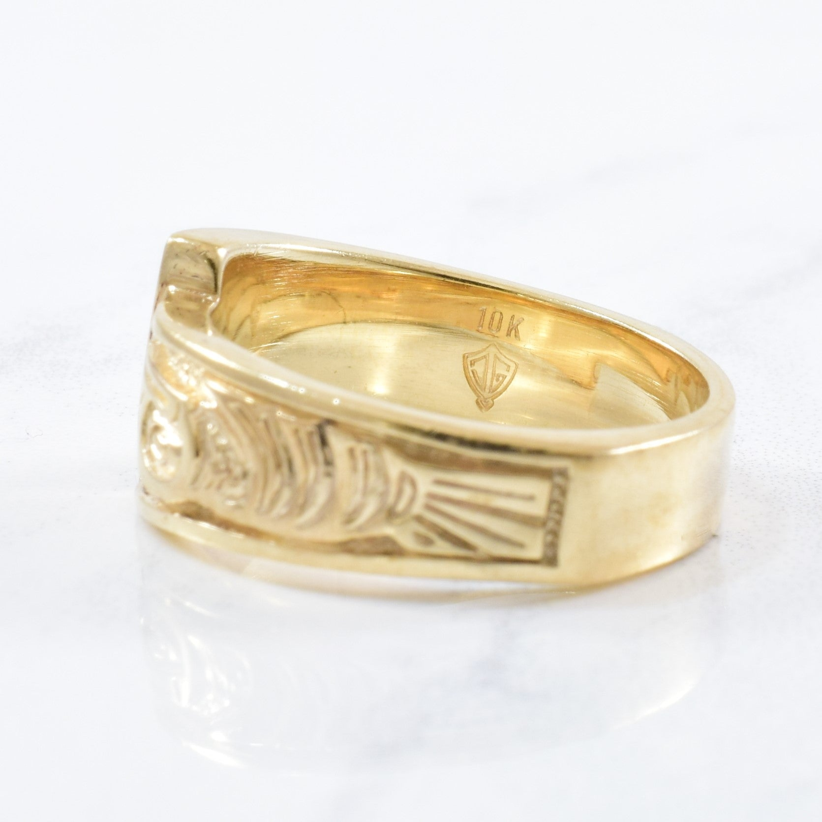 Indigenous Hummingbird & Gold Nugget Ring | SZ 6.75 |