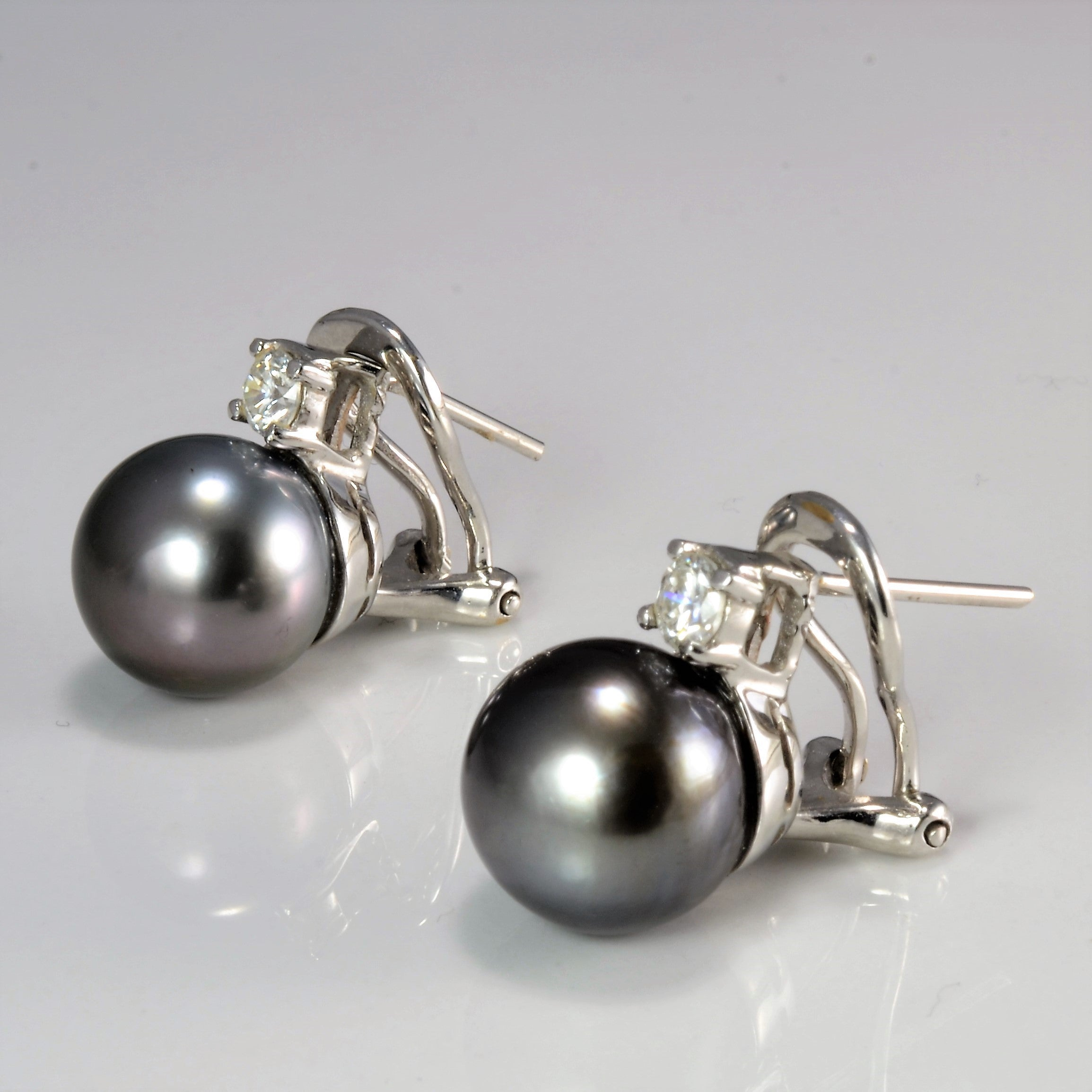 Pearl & Diamond Clip Earrings | 0.32 ctw |