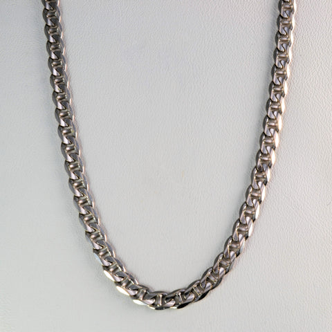 10K White Gold Anchor Chain | 24''|