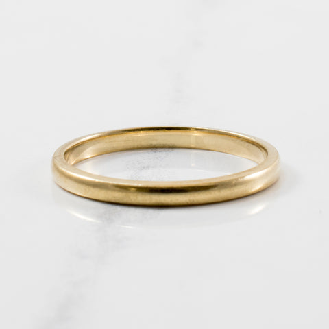 'Birks' Thin Gold Wedding Band | SZ 6.25 |