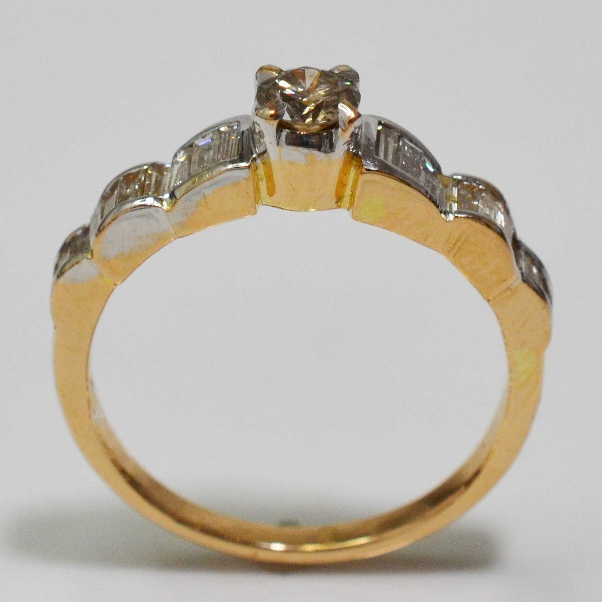 Vintage Baguette Diamond Engagement Ring | 0.62 ctw, SZ 7 |