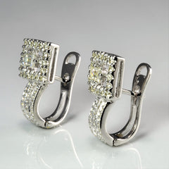 Multi Diamond Ladies Drop Clip Earrings | 1.00 ctw |