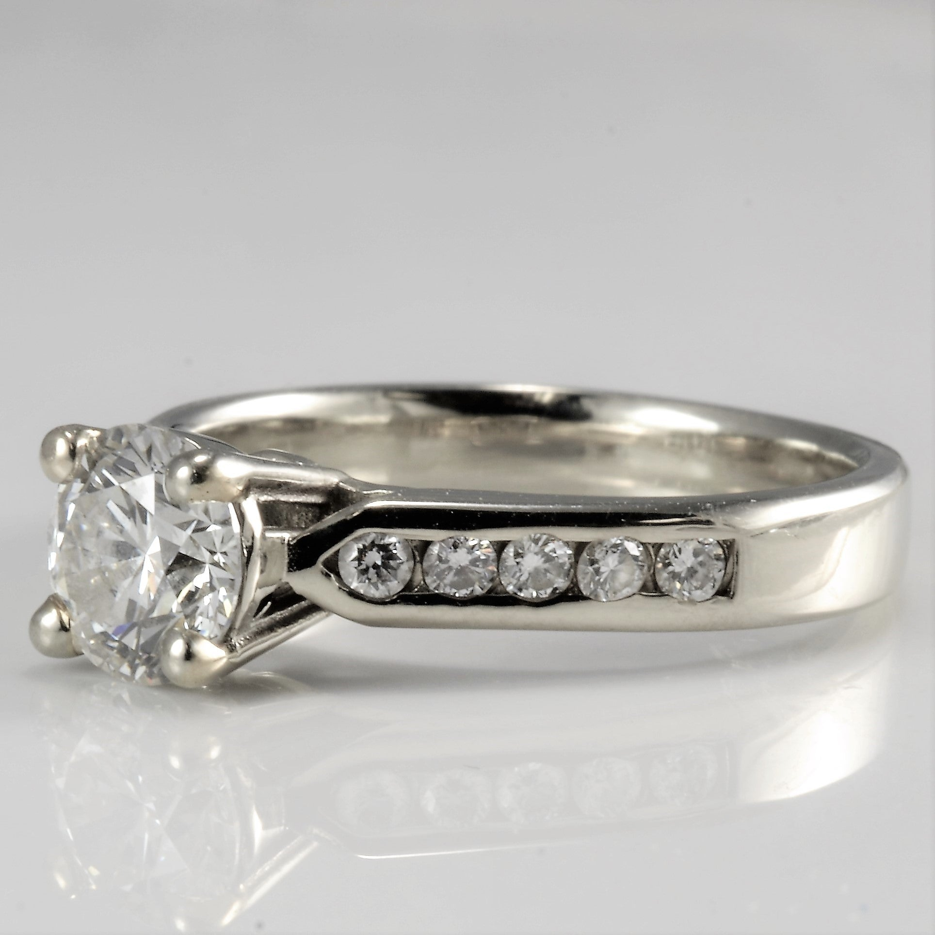 Diamond Channel Engagement Ring | 0.86 ctw, SZ 5|
