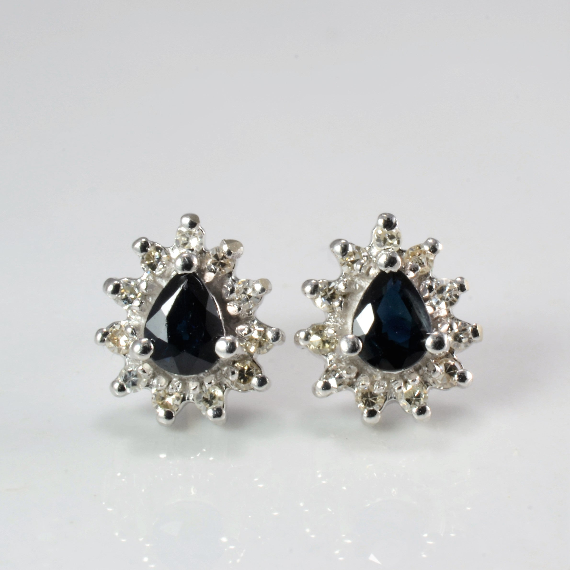 Sapphire & Diamond Stud Earrings | 0.07 ctw |