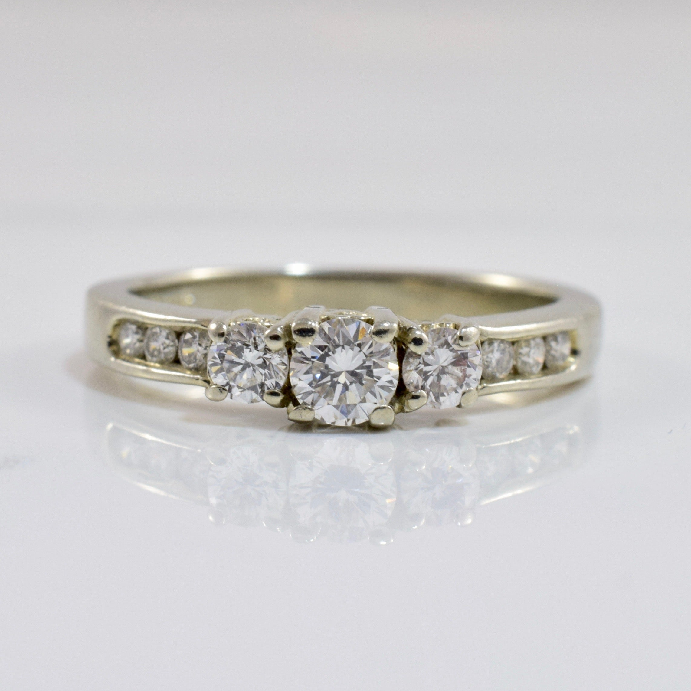 Three Stone Diamond Engagement Ring | 0.55 ctw SZ 5.75 |