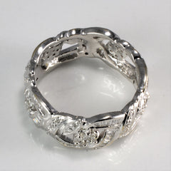 Floral Inspired Multi Diamond Band | 0.80 ctw, SZ 6.5 |