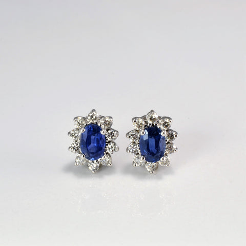 Cocktail Sapphire & Diamond Earrings | 0.44 ctw |