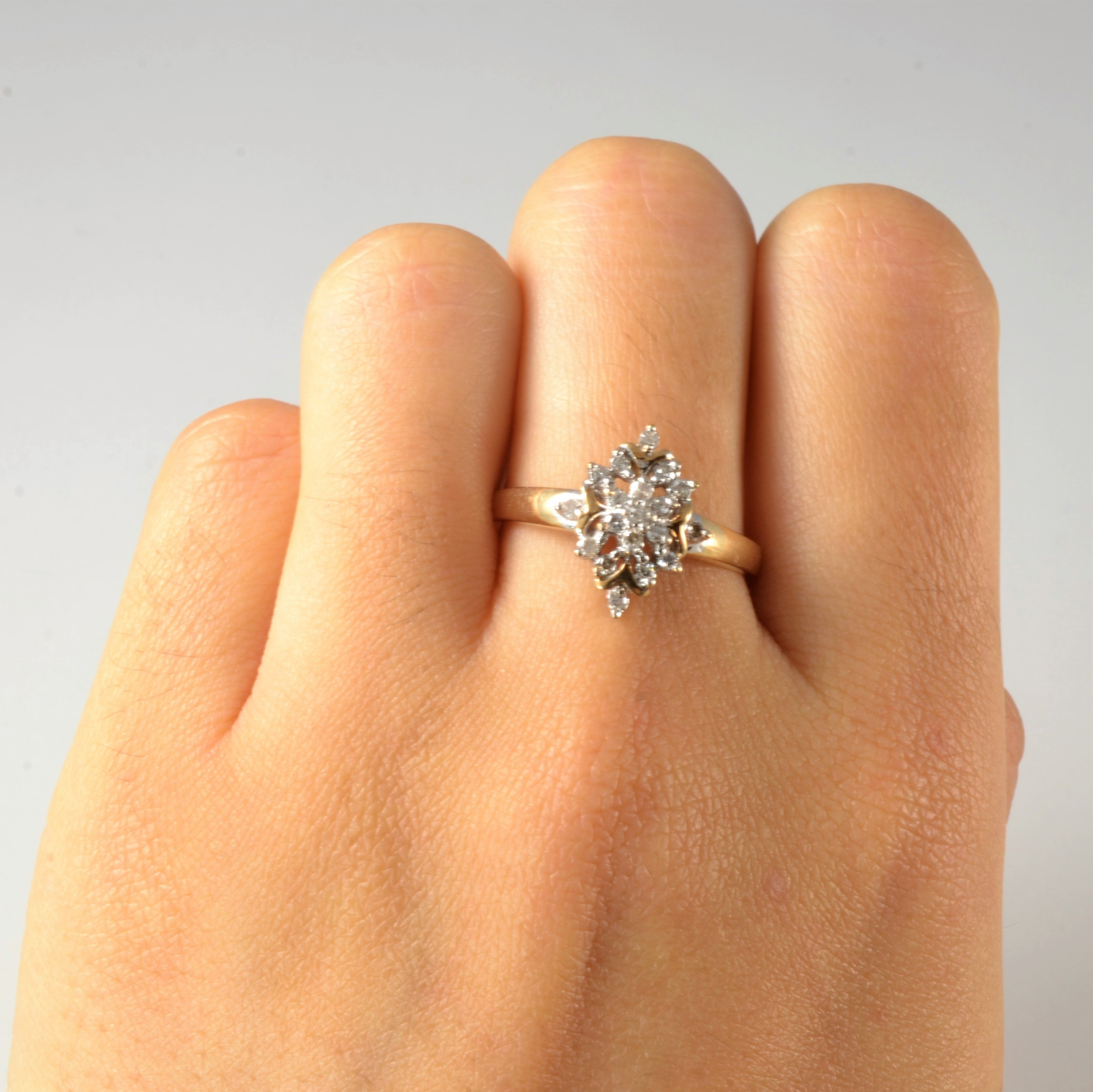 Marquise Shaped Open Cluster Ring | 0.20 ctw, SZ 8 |