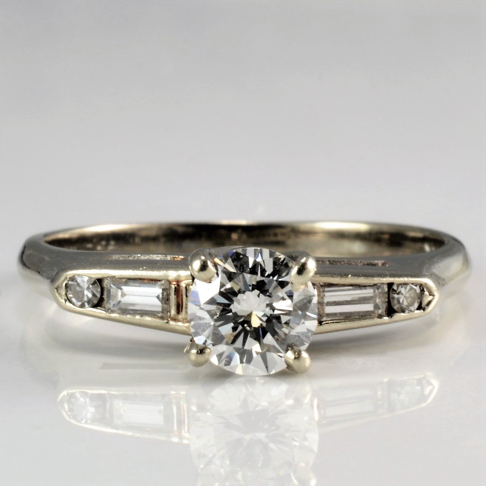 Tapered Multi Diamond Engagement Ring | 0.53 ctw, SZ 6.25 |