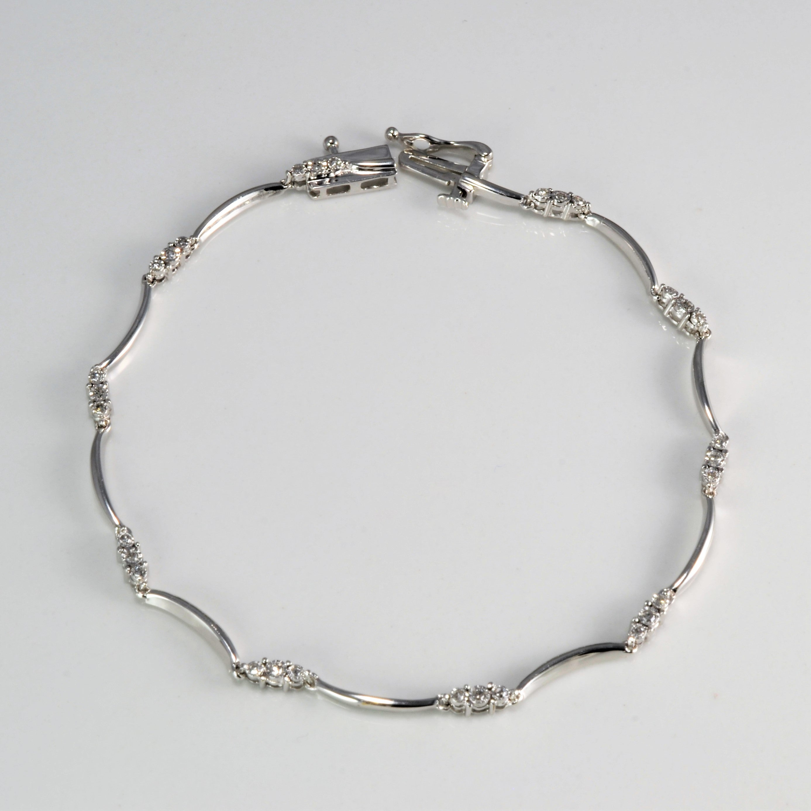 Pave Diamond Chain Bracelet | 0.15 ctw, 7''|