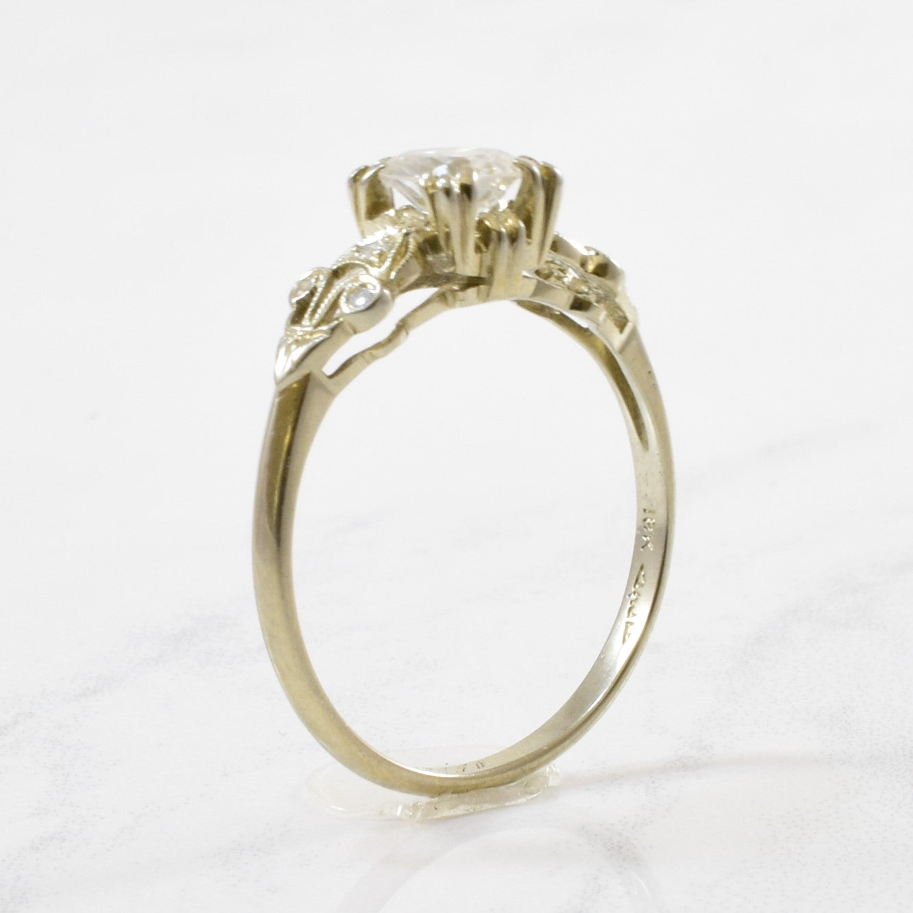 Intricate Retro Era Engagement Ring | 0.68 ctw | SZ 7.5 |