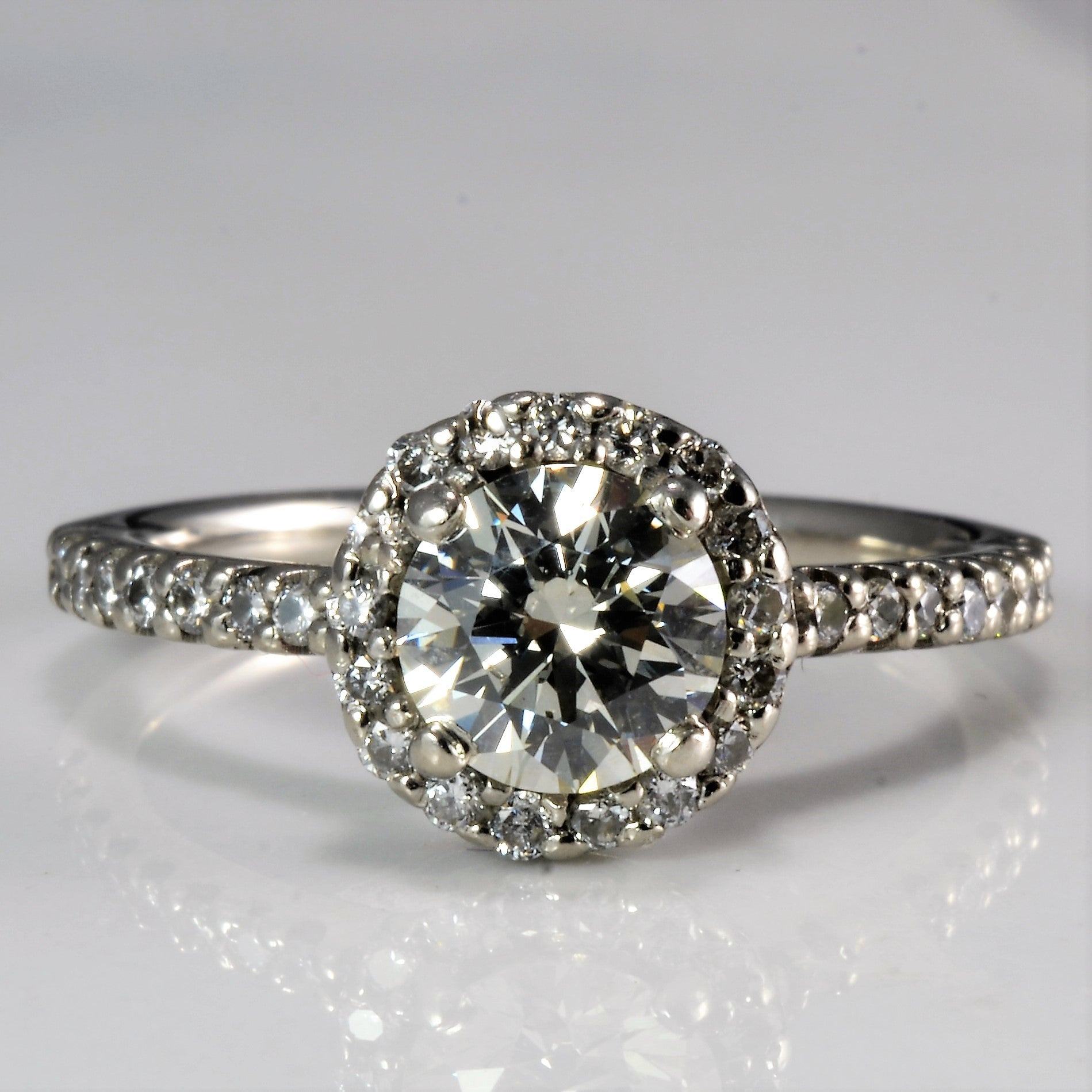 Halo Diamond Engagement Ring | 1.30 ctw, SZ 6.25 |