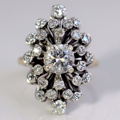 Bold Burst Diamond Cocktail Ring | 1.22 ctw, SZ 6.25 |