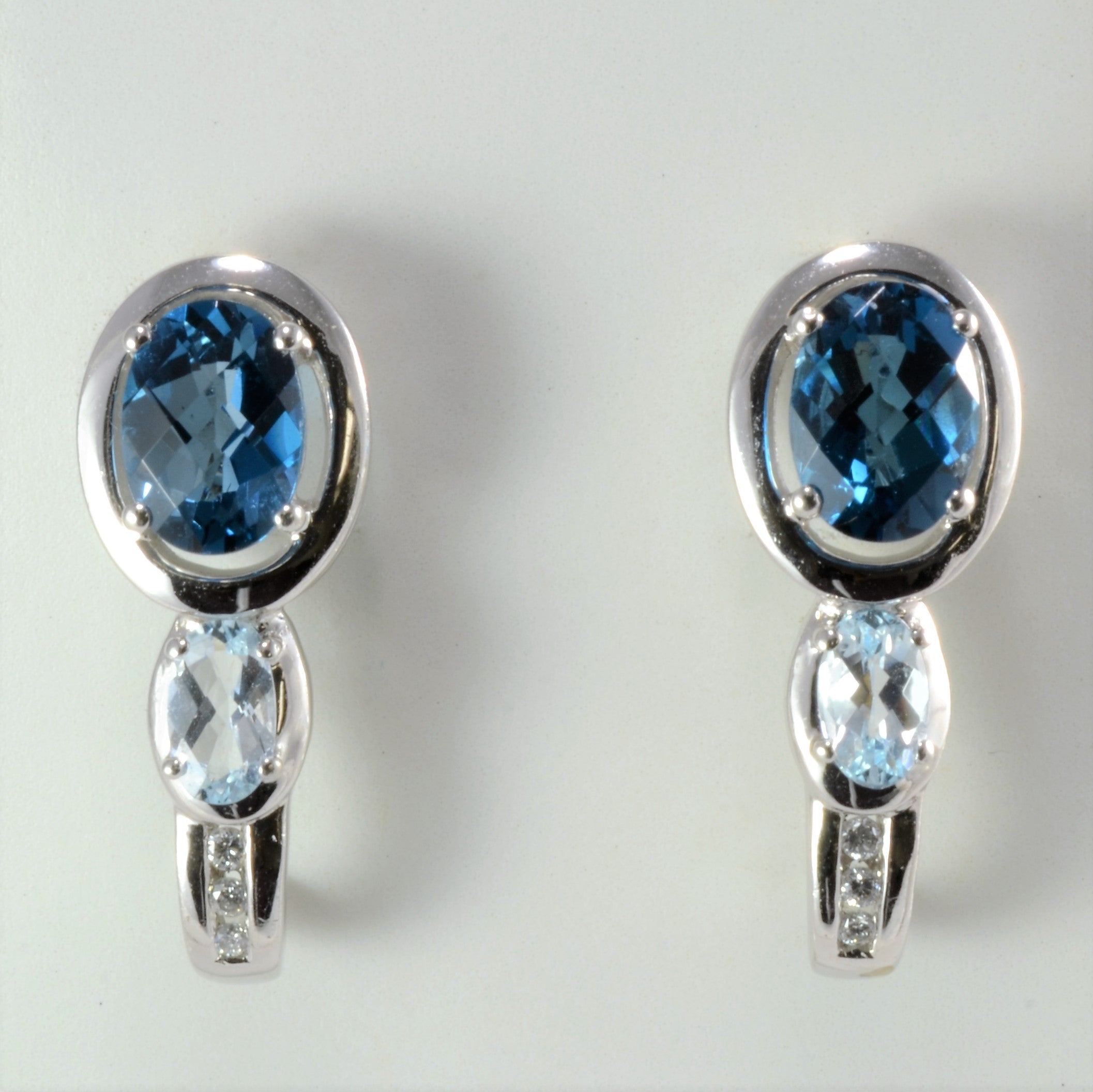 Beautiful Topaz & Diamond Amoro Ring+Earrings Set | 0.06 ctw, SZ ...