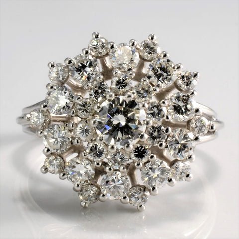 Diamond Cluster Cocktail Ring | 2.01 ctw, SZ 8.5 |