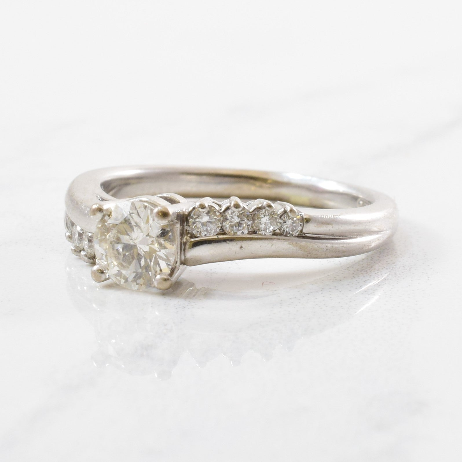 Diamond Wave Bypass Engagement Ring | 0.78 ctw | SZ 7 |