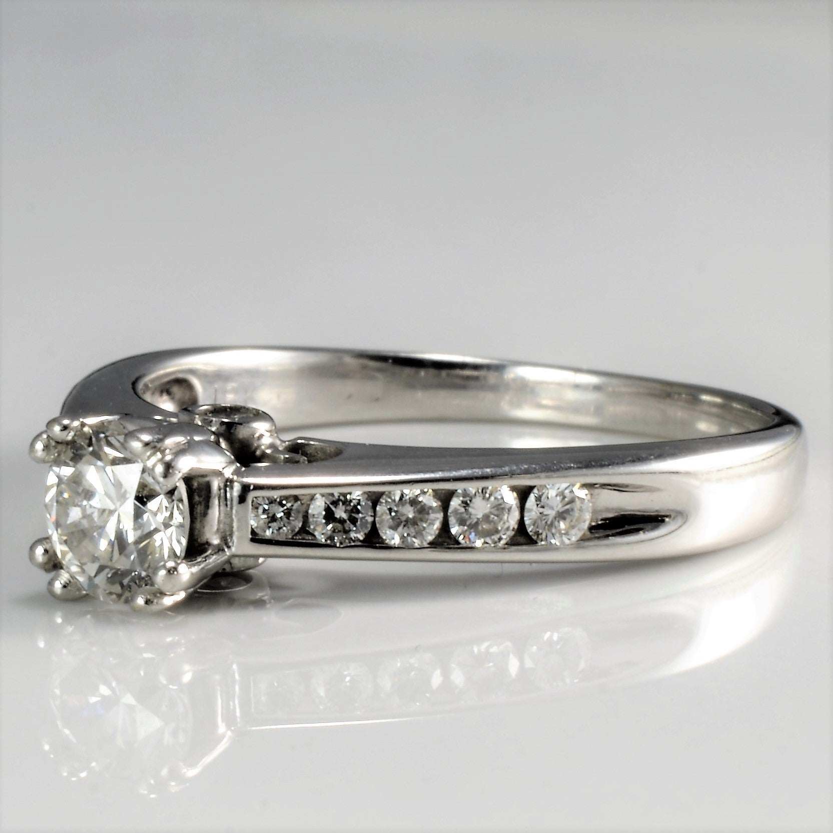 High Set Diamond Engagement Ring | 0.75 ctw, SZ 8.5 |