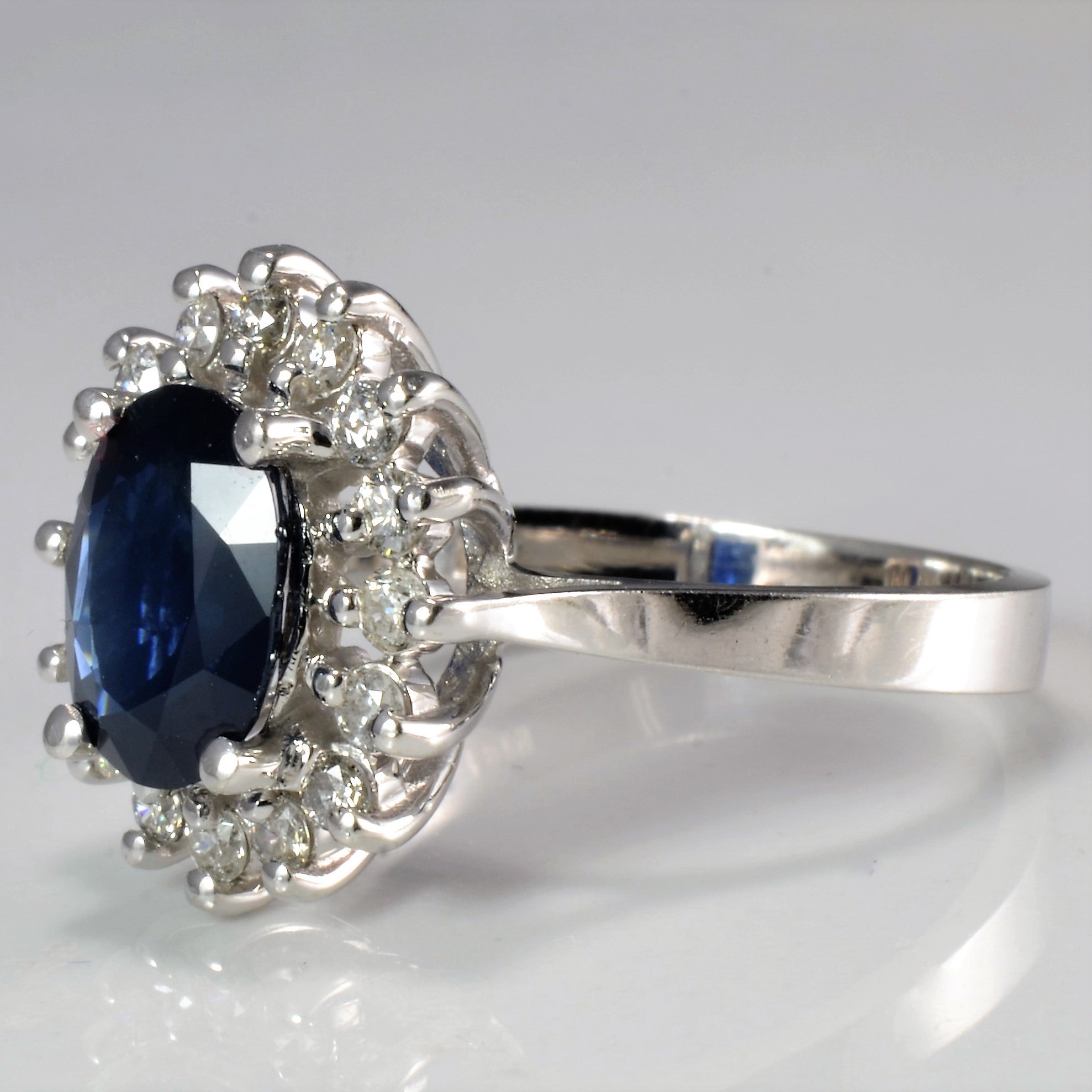 Cocktail Sapphire & Diamond Ladies Ring | 0.32 ctw, SZ 7 |