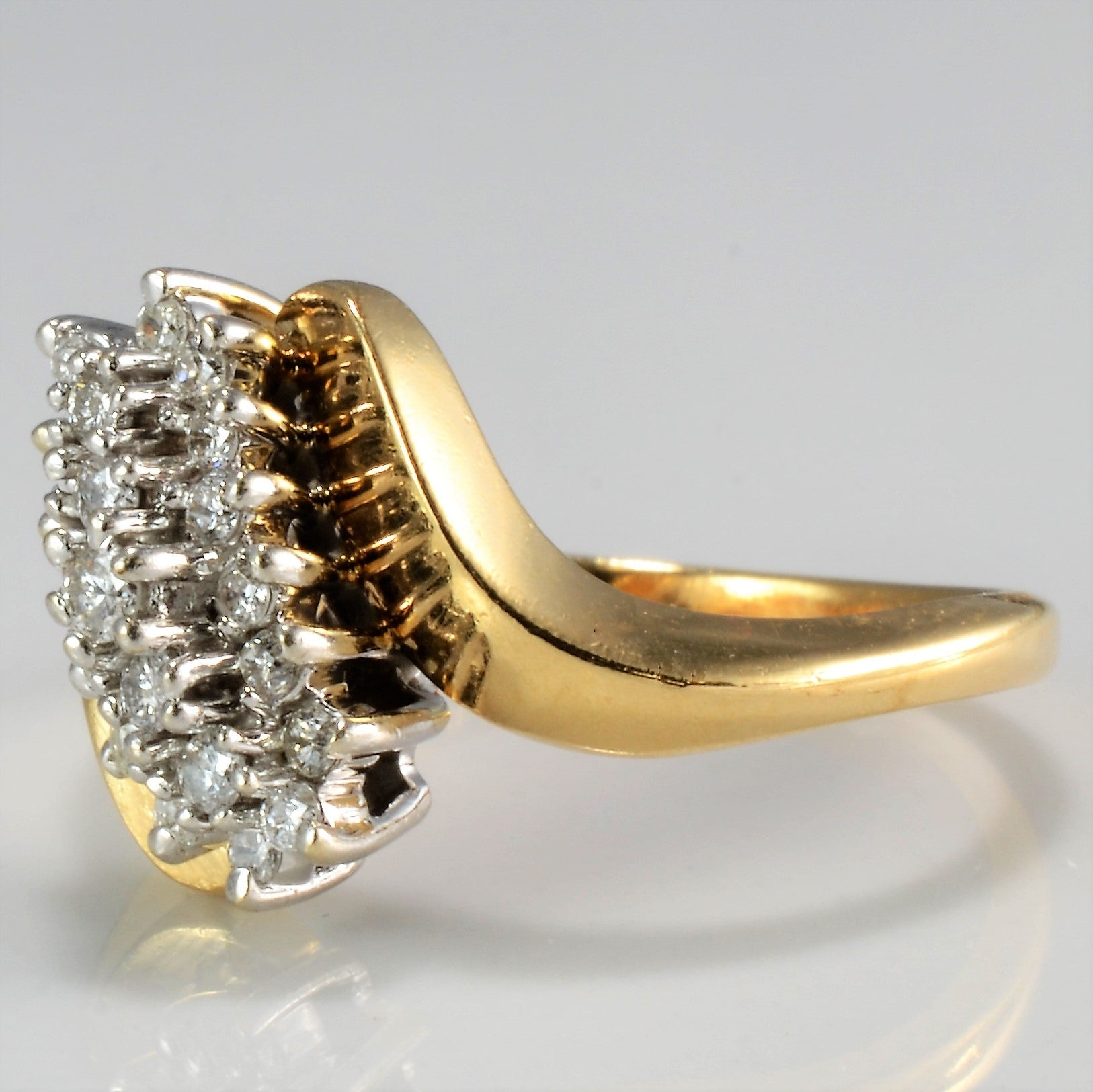 Bypass Cluster Diamond Ring | 0.26 ctw, SZ 6.25 |