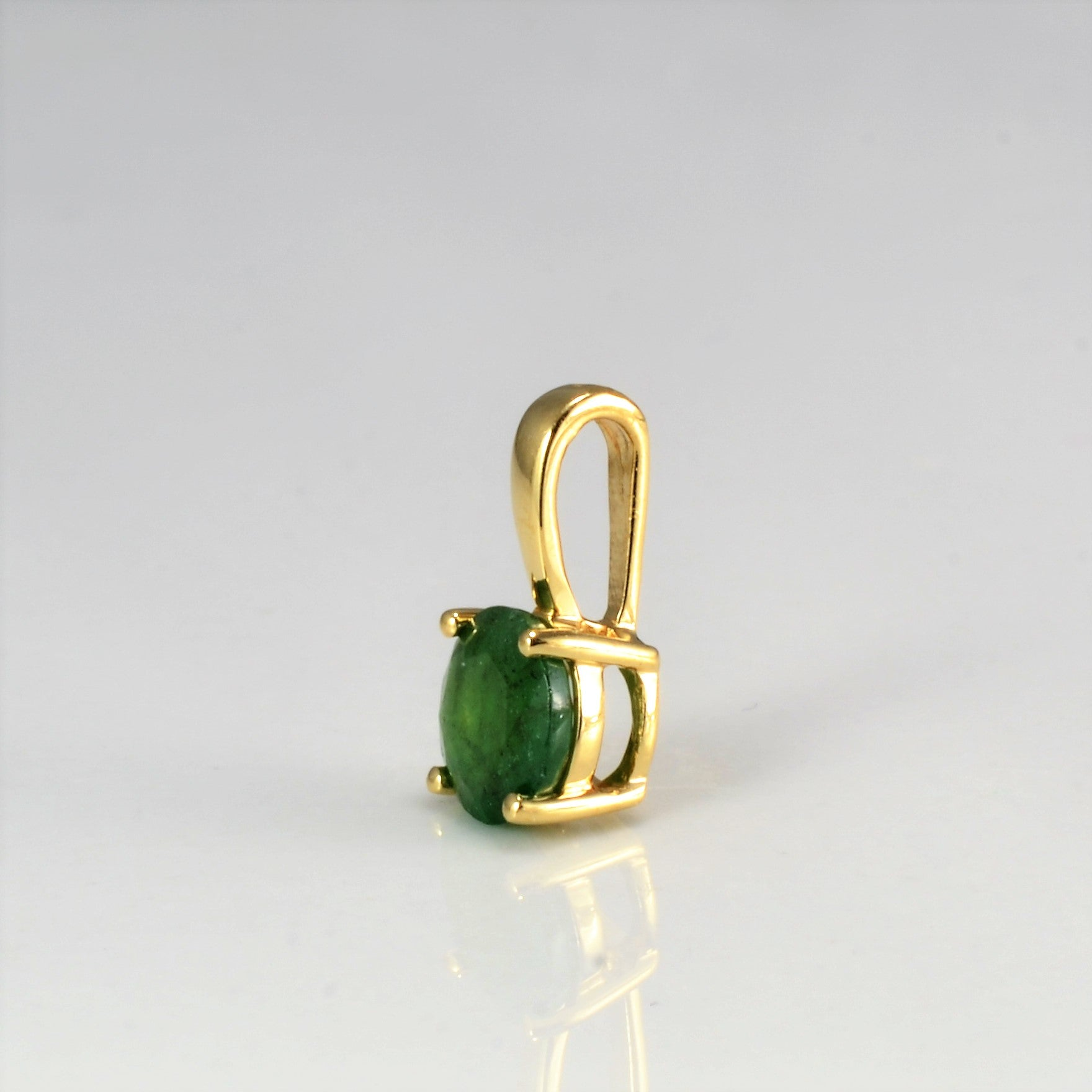 Prong Set Emerald Pendant