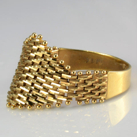 Fancy Intertwined Gold Ring | SZ 10 |