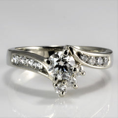 Bypass Diamond Engagement Ring | 0.64 ctw, SZ 6.75 |
