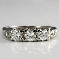 Vintage Five Stone Diamond Engagement Ring | 0.65 ctw, SZ 6 |