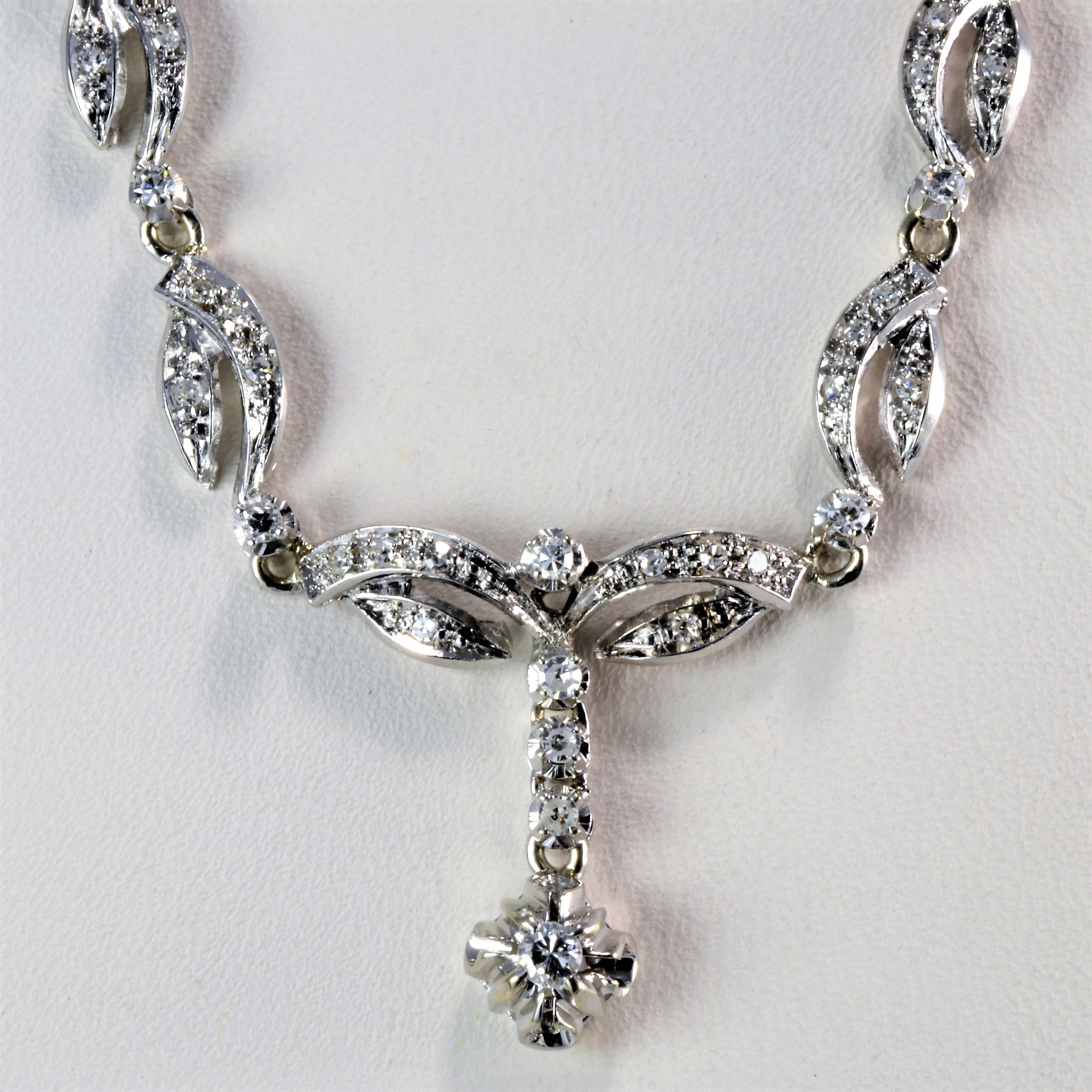 Filigree Design Diamond Necklace | 0.33 ctw, 17''|