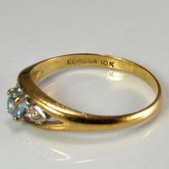 Three Stone Zircon & Diamond Ring | SZ 6.25 |