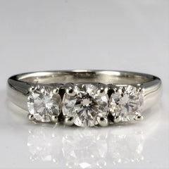Three Stone Diamond Engagement Ring | 0.90 ctw, SZ 5.25 |