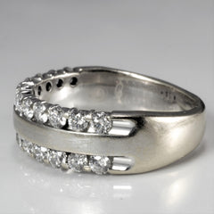 Open Channel Double Row Diamond Band | 1.44 ctw, SZ 8 |