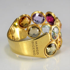 Marco Bicego Multi Gemstone Textured Ring | SZ 7.5 |