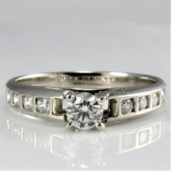 Square Channel Accented Engagement Ring | 0.61 ctw, SZ 7.75 |