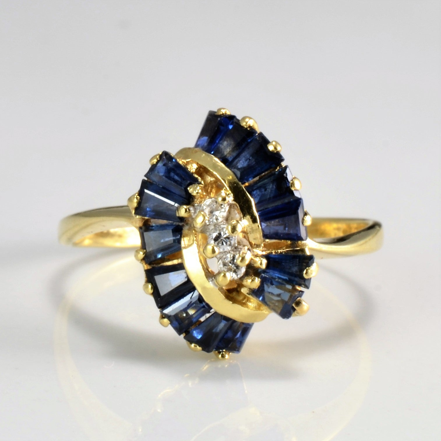 Sapphire & Diamond Ladies Cocktail Ring | 0.03 ctw, SZ 6.75 |