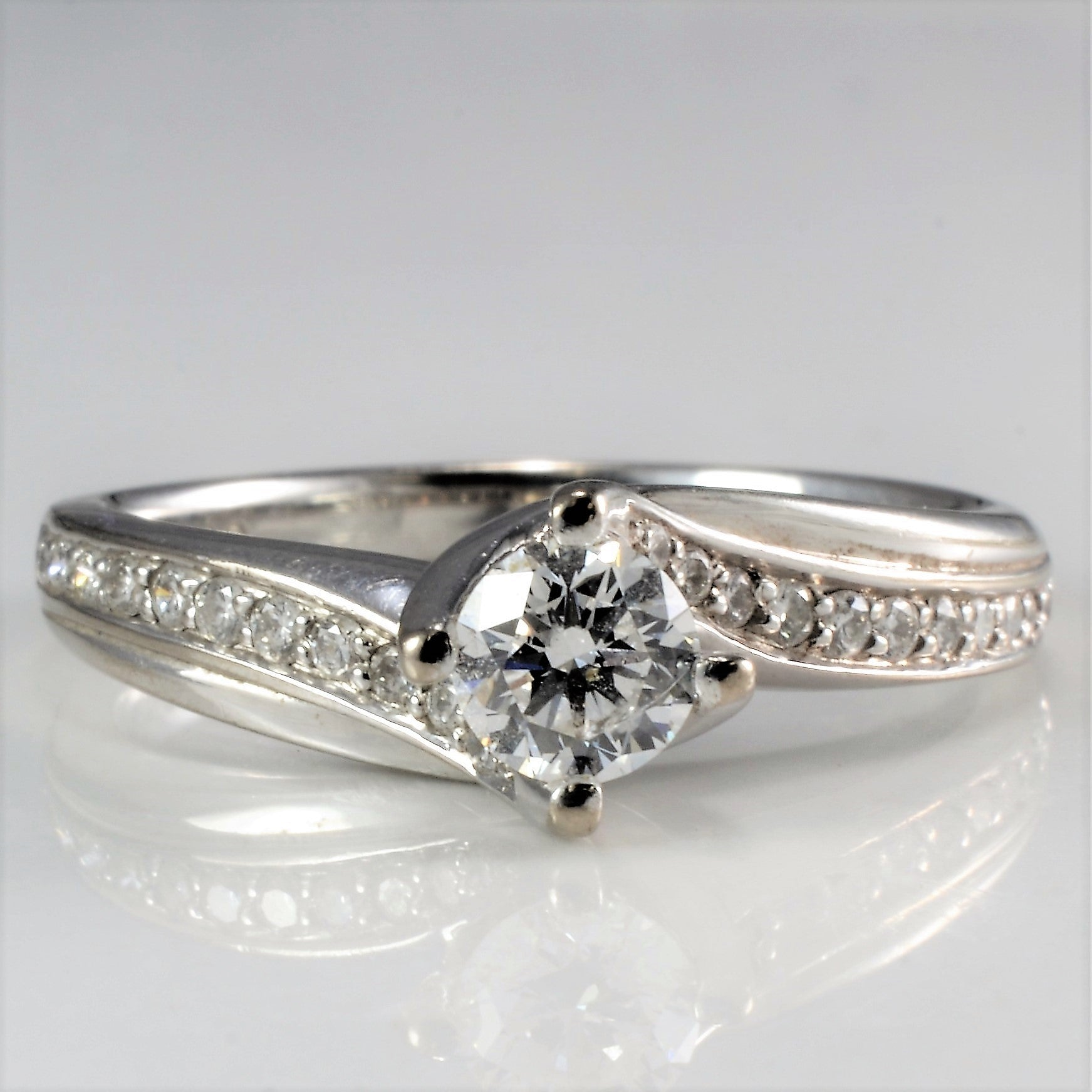 Bypass Diamond Engagement Ring | 0.55 ctw, SZ 6.75 |