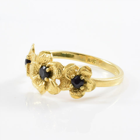Floral Sapphire Ring | SZ 6.5 |