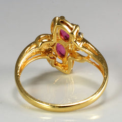 Bypass Ruby & Diamond Ring | 0.06 ctw, SZ 7 |