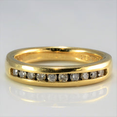 Channel Diamond Semi Eternity Band | 0.20 ctw, SZ 5 |